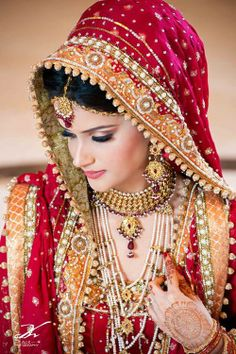 Traditional Pakistani Bride | Photo by Ali Khurshid