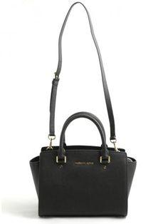 fd2f91cab7 Michael Kors-selma medium satchel bag black-borsa nera selma medium-Michael  Kors 2014 shop online