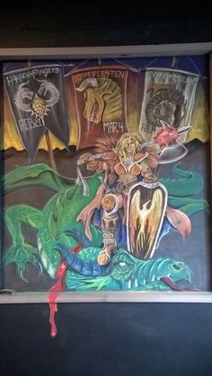 Dragon Slayer!!!! Chalk Board at Tri-City Brewing Company.