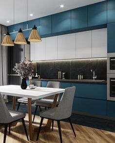 11 Amazing Kitchen Design Trends In 2019 Kitchen Design Color, Kitchen Design Trends, Kitchen Decor, Contemporary Kitchen Design, Contemporary Kitchen, Kitchen Furniture Design, Modern Kitchen Design, Minimalist Kitchen, Kitchen Design