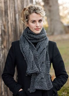 Ravelry: Cable Panel Scarf pattern by Lion Brand Yarn