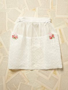 Free People Vintage 1950s Embroidered Apron , $128.00