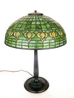 Tiffany Pomegranate Leaded Table lamp