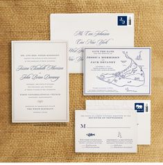 Luxury Wedding Invitations by Ceci New York - Our Muse - Navy Nantucket Wedding - Be inspired by Jessica & John's navy blue Nantucket wedding - letterpress, navy, blue, gold, nantucket, massachusetts, new england, wedding
