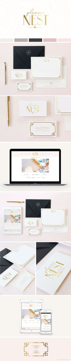 Logo + Website Design :: Glamour Nest Interior Design - Saffron Avenue : Saffron Avenue