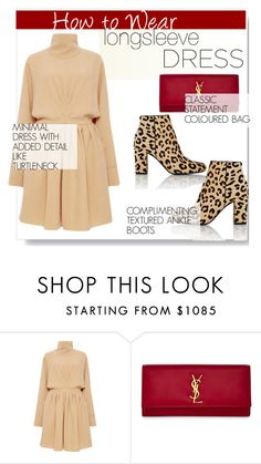 """Longsleeve Dress.."" by nfabjoy ❤ liked on Polyvore featuring J.W. Anderson, Yves Saint Laurent and longsleevedress"
