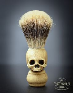 Skull shave brush prototype by Goth Chic Milano - Contact us for pre order mail@gothchic.it