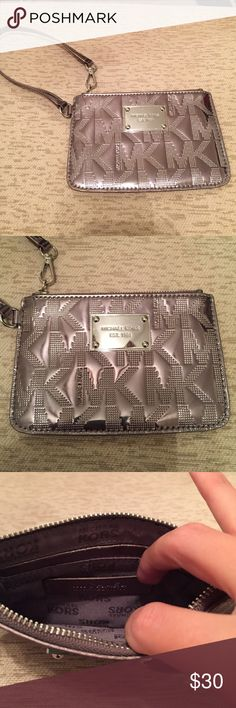 *BRAND NEW* Michael Kors wristlet Nickel MK design, perfect to fit your cards, money & phone! Michael Kors Bags Clutches & Wristlets