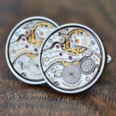 Watch Movement cufflinks Hans crafted from Patek Philippe movements Watch Cufflinks, Patek Philippe, Luxury Watches For Men, Audemars Piguet, Artisan, Unique, Craftsman