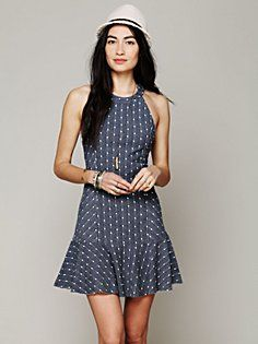 Polka Dot Tank Dress in clothes-dresses
