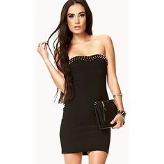 Spiked Shoulder Dress