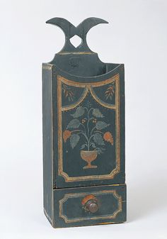 Antiques & Fine Art - Pollack, Frank & Barbara American Antiques & Art - Federal Painted and Decorated Pipe Box