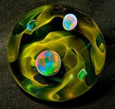 Artists who make handmade glass marbles Stained Glass Tattoo, Stained Glass Art, Stained Glass Windows, Marble Bag, Glass Marbles, Window Design, Glass Ball, Crystal Ball, Wood Print