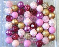 Loose Bead Assortment 50 Count Wild Berry Mix Handcrafted Paper Beads Mixed Purple Beads
