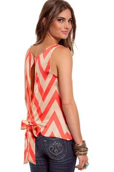 Right Angles Tank in Red $23 at www.tobi.com
