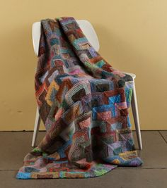 Ravelry: Modern Miters Afghan pattern by Lion Brand Yarn