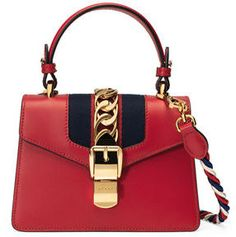 Gucci Sylvie Mini Leather Satchel Bag