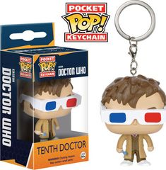The 10th Doctor with 3-D glasses was one of the most popular of the limited edition, full size POP! figures. Now he is being reproduced as a Pocket POP!…