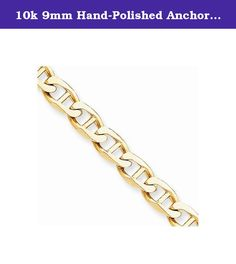 10k 9mm Hand-Polished Anchor Link Chain, Best Quality Free Gift Box. This adds a sense of charm to your favorite collection.10k 9mm Hand-Polished Anchor Link Chain. Model No.: 10LK101-8. 10k Yellow Gold. Product Type: Jewelry. Jewelry Type: Bracelets. Material: Primary: Gold. Material: Primary - Color: Yellow. Material: Primary - Purity: 10K. Sold By Unit: Each. Chain Length: 8 in. Chain Width: 9 mm. Got questions about this item? If you wish to know any additional info or have any...
