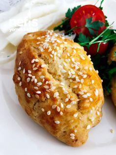 Tereyağlı Mısır Unu Poğaçası #tereyağlımısırunupoğaçası #poğaçatarifleri #nefisyemektarifleri #yemektarifleri #tarifsunum #lezzetlitarifler #lezzet #sunum #sunumönemlidir #tarif #yemek #food #yummy Turkish Tea, Tea Time Snacks, Ramadan Recipes, Bagel, Baked Potato, Vegetarian Recipes, Food And Drink, Gluten Free, Ethnic Recipes