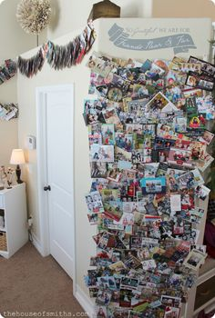 The House of Smiths - Christmas card display wall and card garland