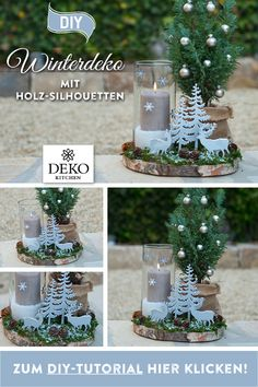 DIY: hübsche Winterdeko für den Tisch Sponsored Sponsored This DIY winter decoration for the table can be implemented quickly and Rose Gold Christmas Decorations, Christmas Crafts, Christmas Tree, Holiday Decor, Diy Fireplace, Winter Flowers, Decoration Table, Diy Table, Coastal Decor
