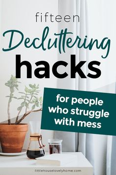 15 Clever Hacks to Help You Declutter Your Home : 15 Genius Decluttering Tips for When The Struggle is Real! I wanted to share the best decluttering hacks with you here, to help you take the next step when it comes to decluttering your home and life. Organizing Hacks, Clutter Organization, Home Organization Hacks, Organizing Your Home, Cleaning Hacks, Decluttering Ideas, Organising, Household Organization, Declutter Home