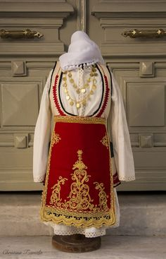 DESFINA - Girls' costume from our collection - copies of traditional costumes Greek Traditional Dress, Authentic Costumes, Greek History, Greek Clothing, Greek Costumes, Greek Apparel, Greeks, Quilting, Collection