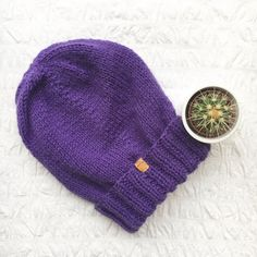 UNISEX Junkbox purple beanie slouchy urban by JunkboxCouture