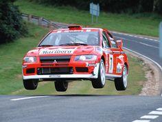 Mitsubishi Lancer Evolution rally car