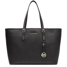 Michael Michael Kors Jet Set Medium Leather Tote ($365) ❤ liked on Polyvore