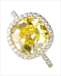 i love yellow, i think a yellow diamond (maybe just a little lighter than canary) would be stunning!