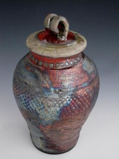 Raku Vase Lidded Urns for Cremation or by earthtoartceramics, $98.00