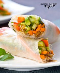 Rouleaux aux légumes frais #recette