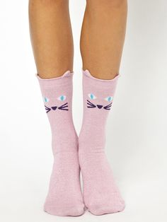 Lazy Oaf Glitty Kitty Ankle Socks, $14.24 - The Best Gifts Under $20 - Seventeen