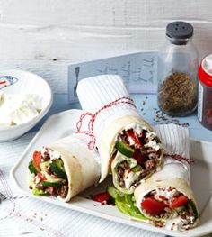 Würzige Wraps für Sommertage - Herzhafte Gerichte für den Sommer - [LIVING AT HOME]