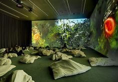 """Bed-in Pipilotti Rist """"Worry Will Vanish"""" at Hauser & Wirth London, 2014 Exhibition Space, Museum Exhibition, Pipilotti Rist, Olafur Eliasson, Contemporary Art Daily, New York Photos, Work Inspiration, Illustrations And Posters, Magazine Art"""