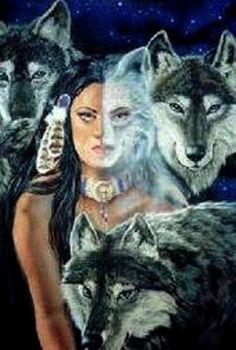 Wolf Spirit Totems ~ by Dianne Elizabeth Stanley Native American Wolf, Native American Wisdom, Native American Pictures, American Indian Art, Animal Spirit Guides, Spirit Animal, Tier Wolf, Wolves And Women, Wolf Love