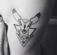 Rib tattoo, doe triangles, flowers @ https://www.facebook.com/tyutyutattoo/ Budapest