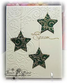 Use chipboard to block some of the embossing and create my own design