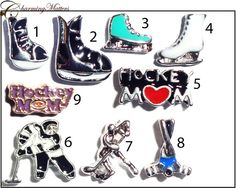 HOCKEY Mom floating charms for window lockets by CharmingMatters