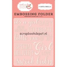 Carta Bella Rock-A-Bye Baby Girl - Embossing Folder