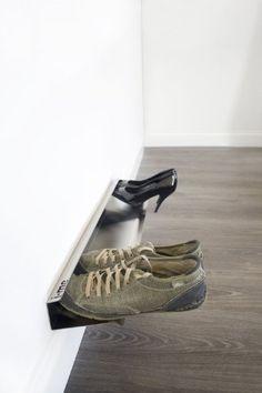 j-me Horizontal Shoe Rack Organizer Mounted Wall Storage ...