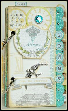 Mini Book by DT Member Cheri Piles, using Teresa Collins Everyday Moments