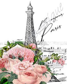Paris Clipart, Paris Eiffel Tower, Background Vintage, Us Images, All Design, Digital Image, Decoupage, Shabby Chic, Card Making