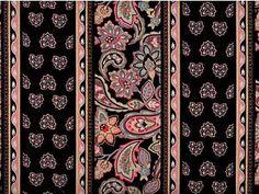Morriston Medium Paisley Fabric Coral Gray Gold Black 1 2 Yard   eBay