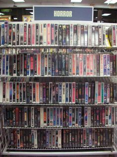 VHS Video Store - so fun walking around, picking out movies, then they dropped the $1 rewind fee on you at the register for a movie you could swear you rewound!!