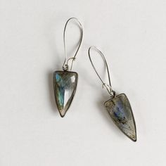 A personal favorite from my Etsy shop https://www.etsy.com/listing/516541559/labradorite-arrow-earrings