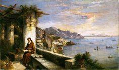 Capuchin Convent at Amalfi by Carelli Consalvo (1818-1900)
