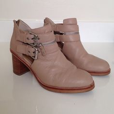 DV booties. Sz 8! Super cute booties, w/ buckles. Nude color. Great condition. DV by Dolce Vita Shoes Ankle Boots & Booties